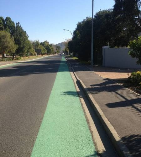 STREETBOND, GREEN BIKE LANE, STELLENBOSCH